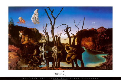 Swans Reflecting Elephants, c.1937