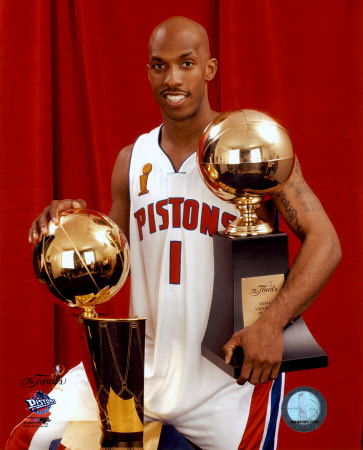 Chauncey Billups - 2004 NBA Championship & MVP Trophies  ©Photofile