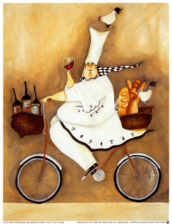 Chef To Go Art Print