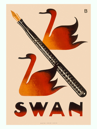 Swan Screw Cap Fountain Pen Posters