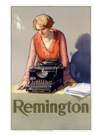 Remington Typewriter Posters