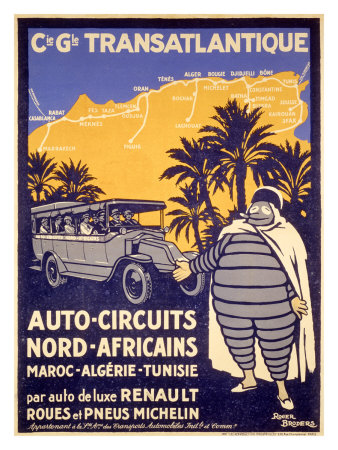 Buy North African Michelin Tire Tour at AllPosters.com