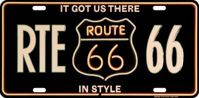 RTE 66 License Plate