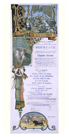 Plaza De Toros Bull Fight Poster