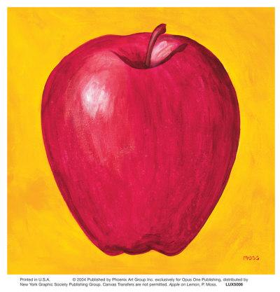 Pomme sur citron