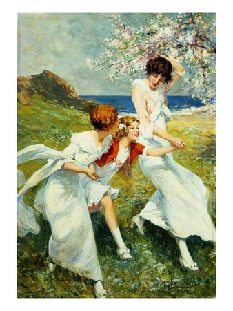 A Spring Day by the Seashore