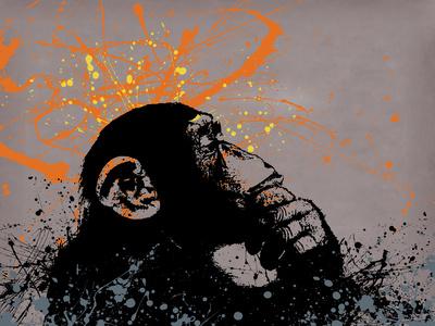 Thinker Monkey Giclee Print