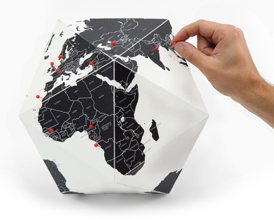 Here - The Personal Globe - Medium, Black Novelty