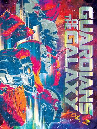 Guardians of the Galaxy: Vol. 2 - Rocket Raccoon, Drax, Yondu, Star-Lord, Gamora, Mantis, Groot Poster