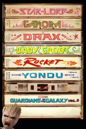 Guardians of the Galaxy: Vol. 2 - Lord, Gamora, Drax, Groot, Rocket Raccoon, Yondu Poster