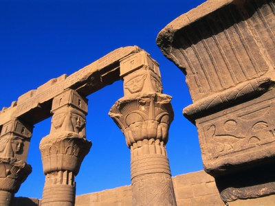 Philae Temple Column Reliefs