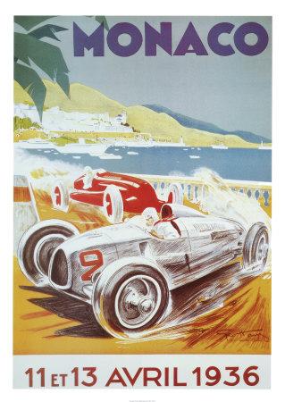8th Grand Prix Automobile, Monaco, 1936 Art Print