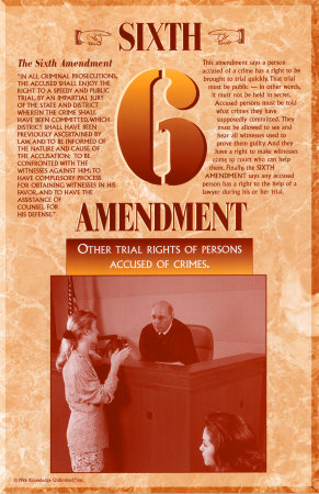 The Bill of Rights - Sixth Amendment