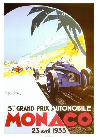 5th Grand Prix Automobile, Monaco, 1933 Sports Art Print