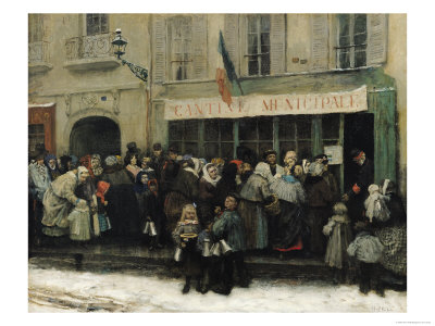 A Soup Kitchen During the Siege of Paris, after 1870