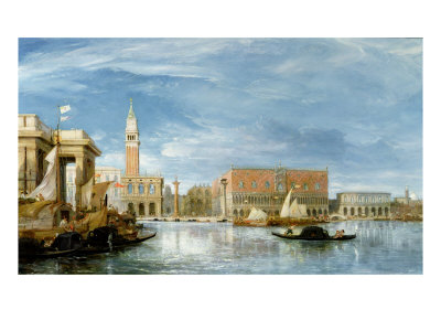View of the Molo and the Palazzo Ducale in Venice
