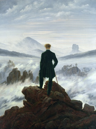 The Wanderer Above the Sea of Fog, 1818 Premium Giclee Print