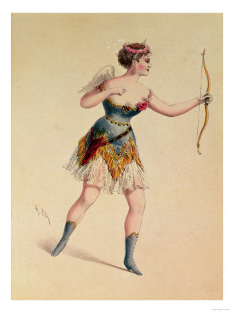 "Cora Pearl as Cupidon in Offenbach's ""Orpheus in the Underworld"""