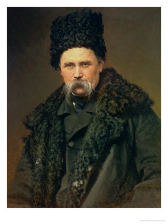Portrait of the Ukranian Author Taras Grigorievich Shevchenko (1814-61), 1871 Giclee Print