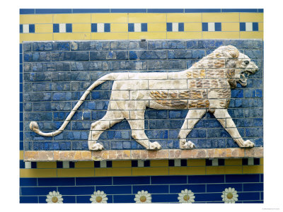 Lion Representing Ishtar, from Babylon, 625-539 BC (Enamelled Bricks)