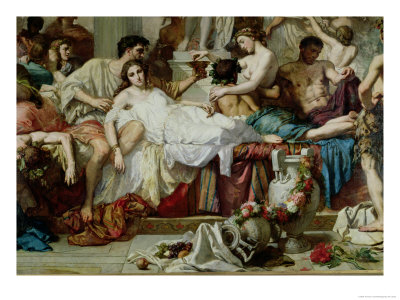 The Romans of the Decadence, Detail of the Central Group, 1847