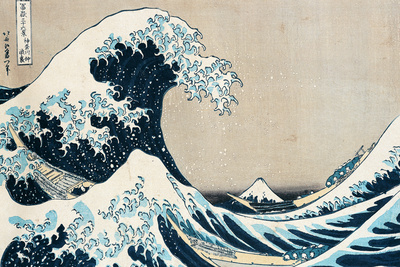 "The Great Wave of Kanagawa, from the Series ""36 Views of Mt. Fuji"" (""Fugaku Sanjuokkei"") Premium Giclee Print"