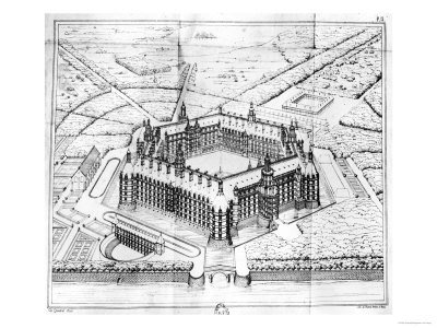 "Reconstruction of Theleme Abbey, Illustration from ""Rabelais Et L"