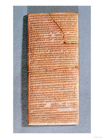 Tablet Relating the Ritual Sacrifices at the Temple of Anu in Uruk (Warka) Copy of an Ancient Text