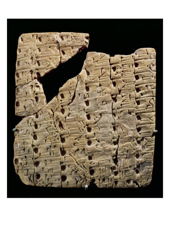 Tablet with Cuneiform Script, from Uruk, circa 3200 BC