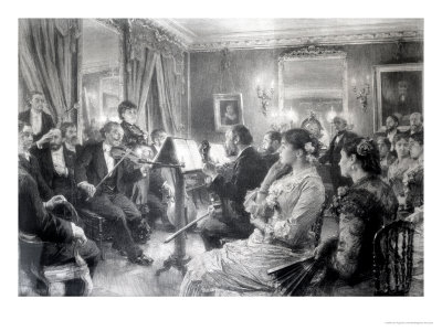 The Quartet or the Musical Evening at the House of Amaury Duval, 1881