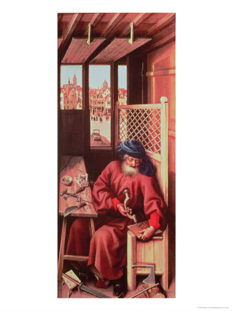 St. Joseph Portrayed as a Medieval Carpenter from the Merode Altarpiece circa 1425