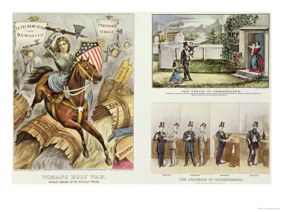 Anti Liquor Lithos: the Fruits of Temperance, the Progress of Intemperance, Woman