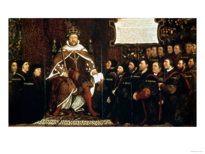 Henry VIII Handing over a Charter to Thomas Vicary, 1541