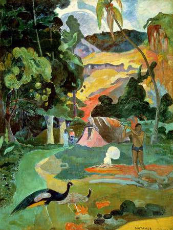 Matamoe Or, Landscape with Peacocks, 1892 Posters