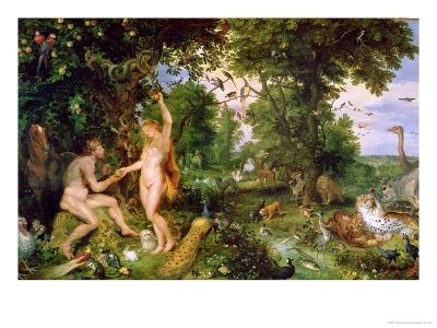 adam eve, Jan Brueghel The Elder