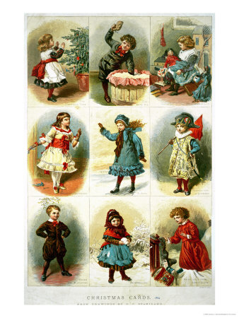 Christmas Cards Depicting Various Children