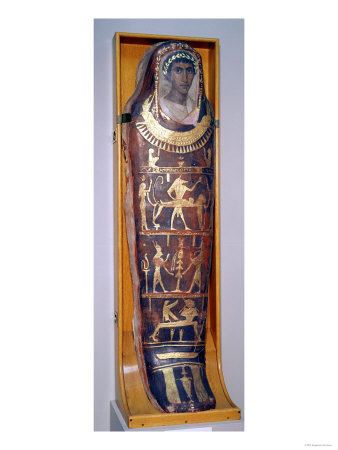 Painted and Gilded Mummy Case of ...