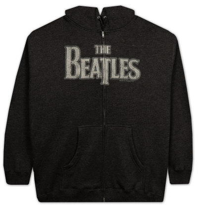 Zip Hoodie: The Beatles - Vintage Logo