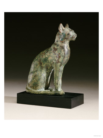 Egyptan bronze cat.