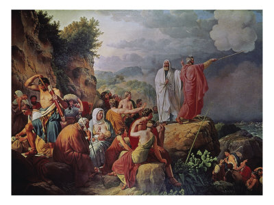 Moses Divides the Waters of the Red Sea
