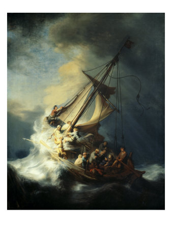 The Storm on the Sea of Galilee Sports Premium Giclee Print