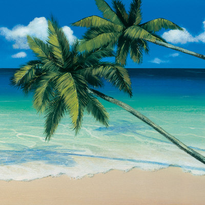 Tropical Horizon (detail) Art Print