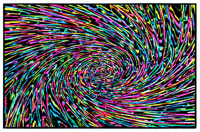 Mesmerized Blacklight Poster