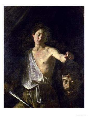 David With The Head Of Goliath, 1606 affiche par Caravaggio