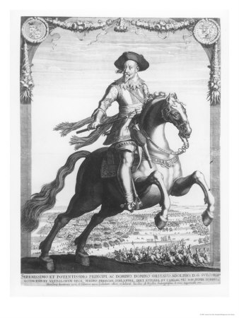 Gustavus Adolphus II, King of Sweden, on Horseback, 1632 Giclee Print