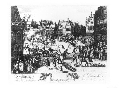 The Execution of the Conspirators in the Gunpowder Plot in the Year 1606