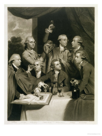 Sir William Hamilton with Other Connoisseurs, Meeting of the Society of Dilettanti