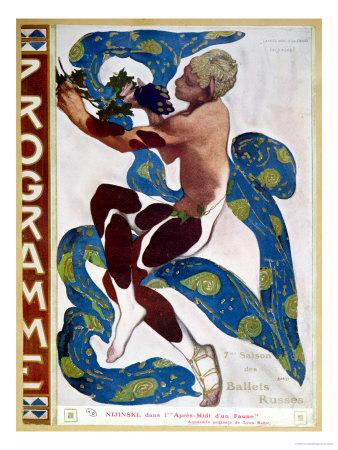 """Nijinsky's Faun Costume in """"L'Apres Midi D'Un Faune"""" by Claude Debussy"""
