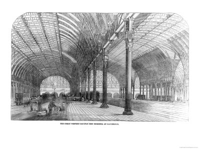 The Great Western Railway New Terminus at Paddington, London, 1854