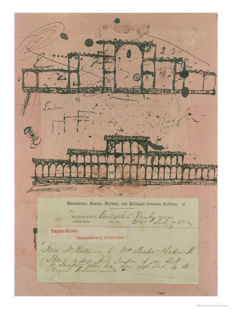 Great Exhibition, 1851: First Sketch for the Building, 1850